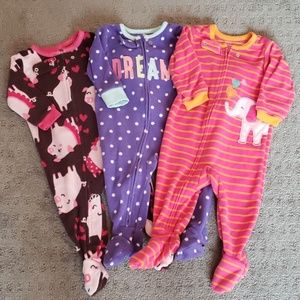 Bundle of footie pajamas